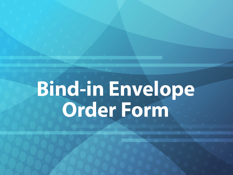 Bind-in Envelope Order Form